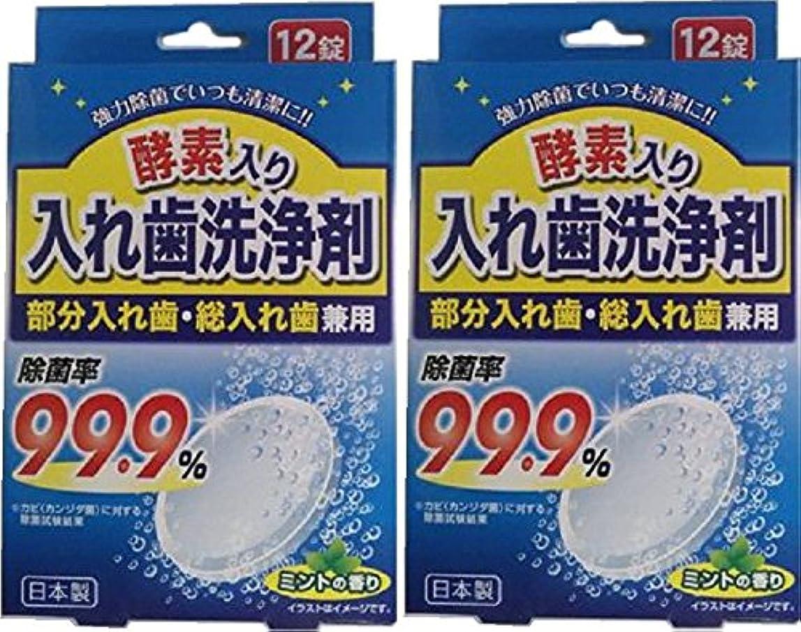 ウイルス被害者識別酵素入り入れ歯洗浄剤 部分入れ歯?総入れ歯兼用 12錠 x 2個セット
