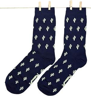 Roits, Calcetines Cactus Azul Mujer 36-40 - Calcetines de Dibujos Originales Estampados Divertidos