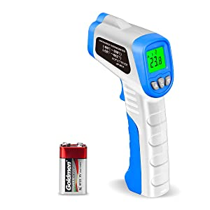 Digital Laser Infrared Thermometer AP-981A Non-Contact IR Thermometer Gun Temperature Gun -58℉~ 662℉(-50℃~350℃) with Backlight Data Hold for Swimming Cooking BBQ Automotive(NOT for Human)