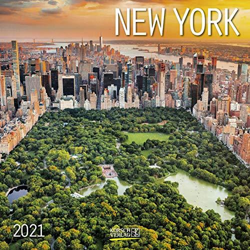 New York 2021: Broschürenkalender mit Ferienterminen. Format: 30 x 30 cm
