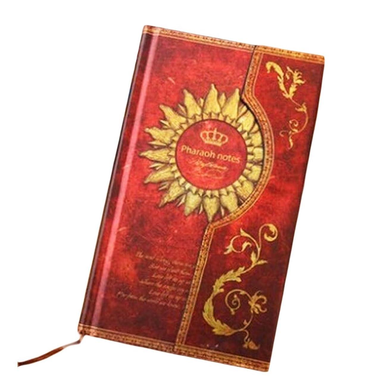 赤レトロノートブック旅行ジャーナルレビューメモノートノートブック日記