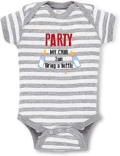 Cute Rascals Party My Crib 2Am Bring A Bottle Boys-Girls Cotton Baby Bodysuit One Piece