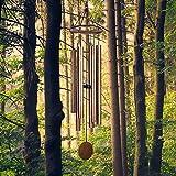 LACHIKA Wind Chimes Outdoor Large Deep Tone Metal Windchimes Sound Like Church Bell 44 inch Copper Vein 1pcs