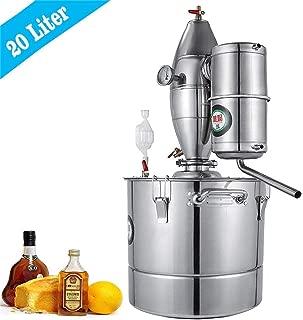 10-100L DIY CASA Alambique Destilador Destilaci/ón Still Enfriador Caldera Term/ómetro Vino Alcohol Agua Esencial Aceite Preparaci/ón Kit 10 L Litro, Acero Inoxidable
