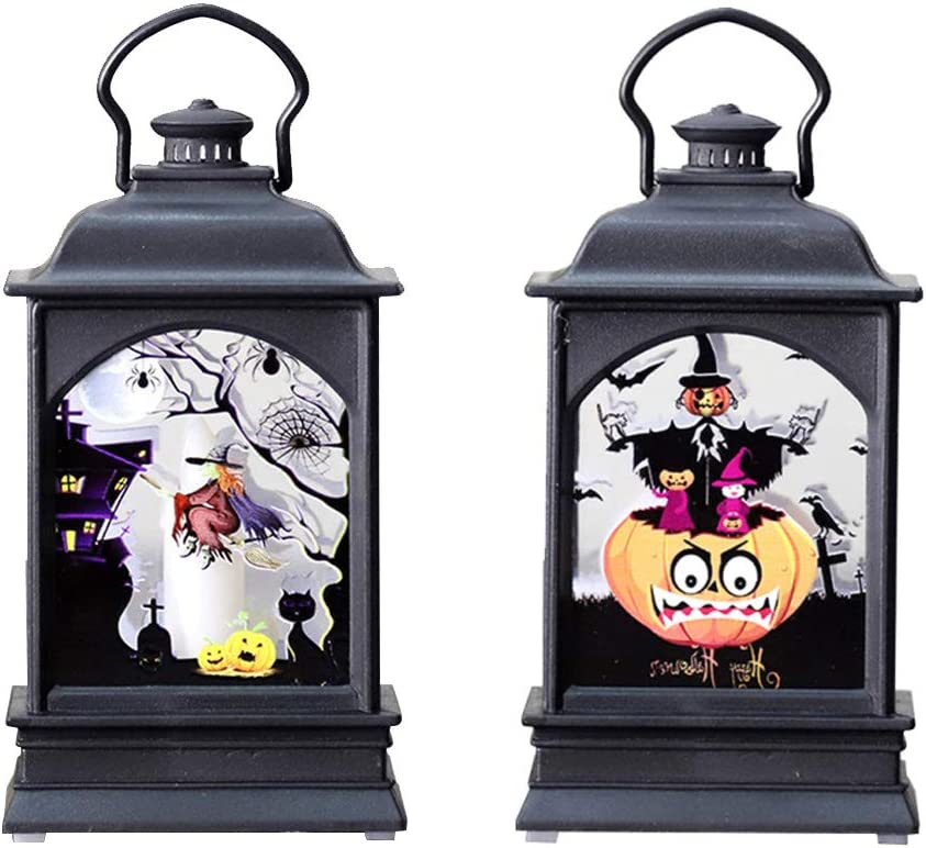 FRCOLOR 2pcs Halloween Simulation Light h Lamp Hand- Candle Flat Portland Mall Popular products