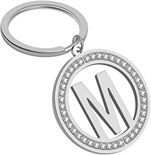 Giftale Initial Letter Keychain Cute Key Ring for Girls Handbag Backpack Charms