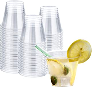 TashiBox [9oz - 150 Cups] Plastic Cups Clear - Disposable Tumbler for Cocktails, Wine and More Essential Party Supplies