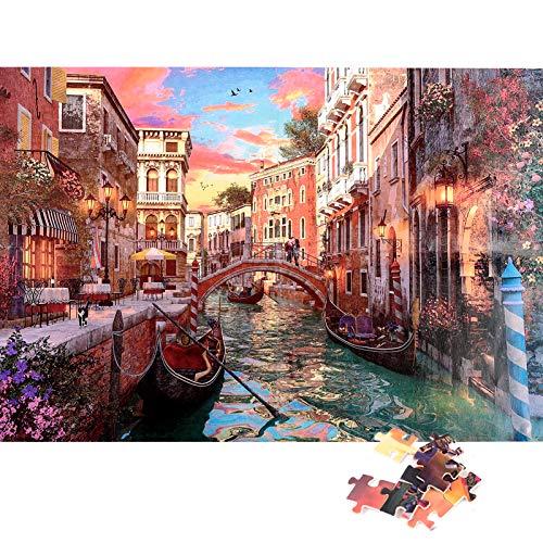 Herefun Jigsaw Puzzle 1000 Piezas, Creativo Puzzle Adolescentes Puzzle Rompecabezas para Infantiles, Descompresión Divertido Juego Familiar, Decoración para El Hogar Regalos (Romántico)