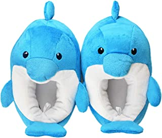 Boy's/Girl's Dinosaur Slippers with Anti-Skid Rubber Sole House Shoes