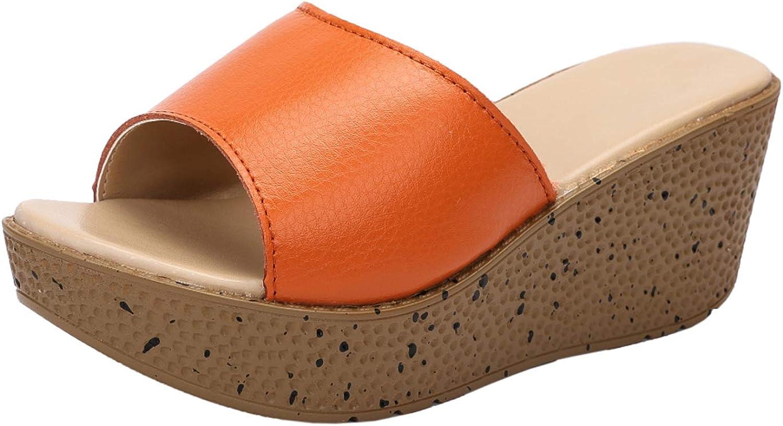 Women's Chic Open Toe Wedges Slide Platform Sandals