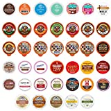 Coffee, Tea, Cider,Cappuccino, and Hot Chocolate Single Serve Cups For Keurig K Cups Brewers, Perfect Sampler Pack, includes Hot Cocoa from Grove Square and Crazy Cups, 40 Count