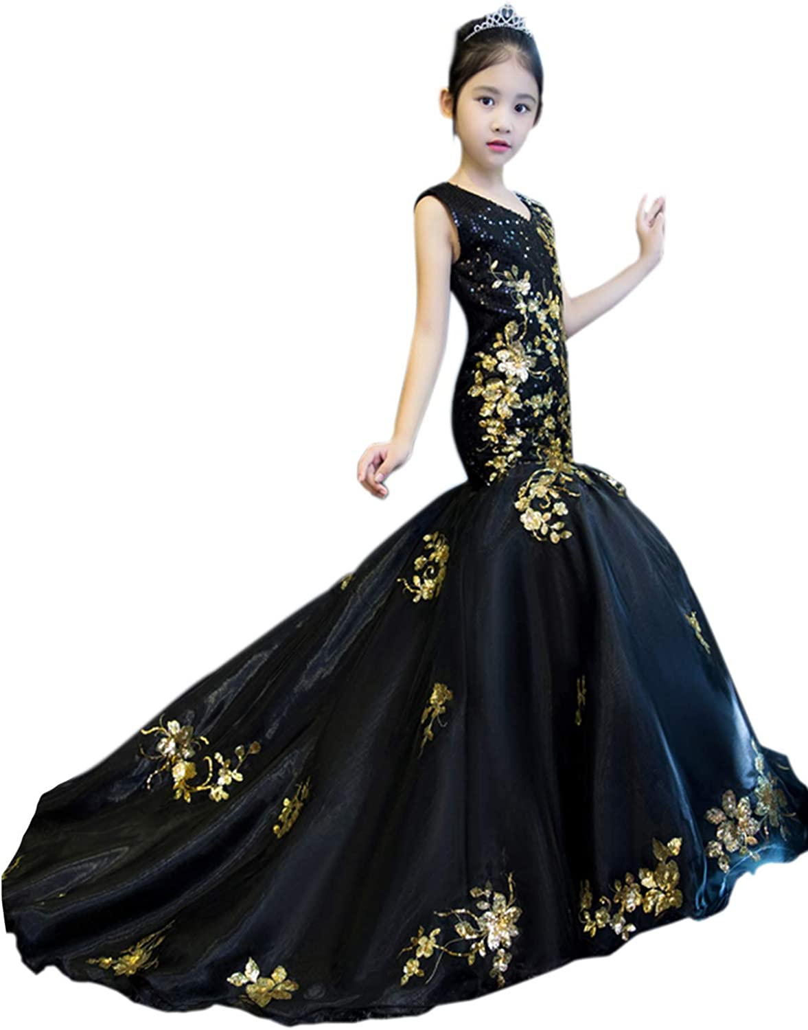 Happy 2021 spring and summer new Lemon Ball Gown Flower Girls Animer and price revision Dresses Weddings for High Low