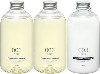 Tamanohada 玉肌 无硅油洗护发套装 003玫瑰香(洗发水540ml*2+护发素540ml)(日本品牌)