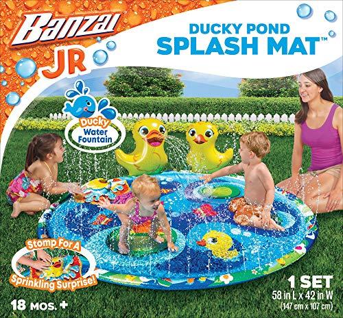 BANZAI Jr. Ducky Pond Splash Mat, Multi