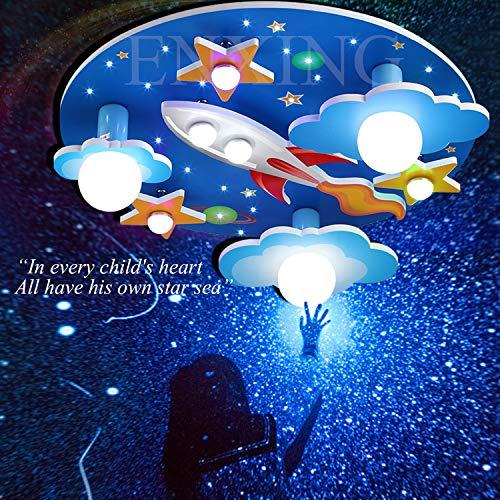 Kinderzimmerlampe E27 Deckenlampe LED Deckenleuchte Universum Sterne Jungen Und Mädchen Dimmlüster Kinderlampe E14 Baby Lampe Licht Schlafzimmer Umgebung Für Cartoon Deckenbeleuchtung Lampeschirm