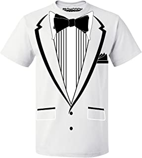 Tuxedo (Black) with Pocket Square Ceremony Men's T-Shirt