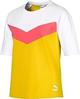 Puma XTG Colorblock Tee Sulphur Grey Shirt For Women, Size L