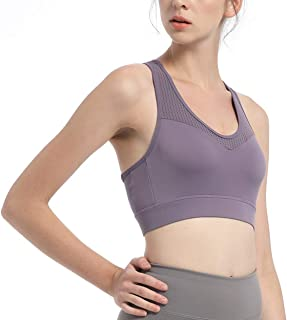 Sports Bra XL High-Intensity Sports Bra Shockproof Yoga Fitness Running Moisture Absorption One-Piece Fixed Cup Underwear(...