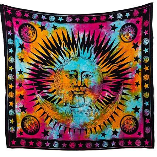 MOMOMUS Arazzo da Parete Grande - Mandala in Cotone Indiano/Etnico - Telo Mare...