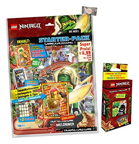 Lego Ninjago Karten Trading Cards Serie 6 - Die Insel (2021) - 1 Starter + 1 Blister + stickermarkt24de Gum