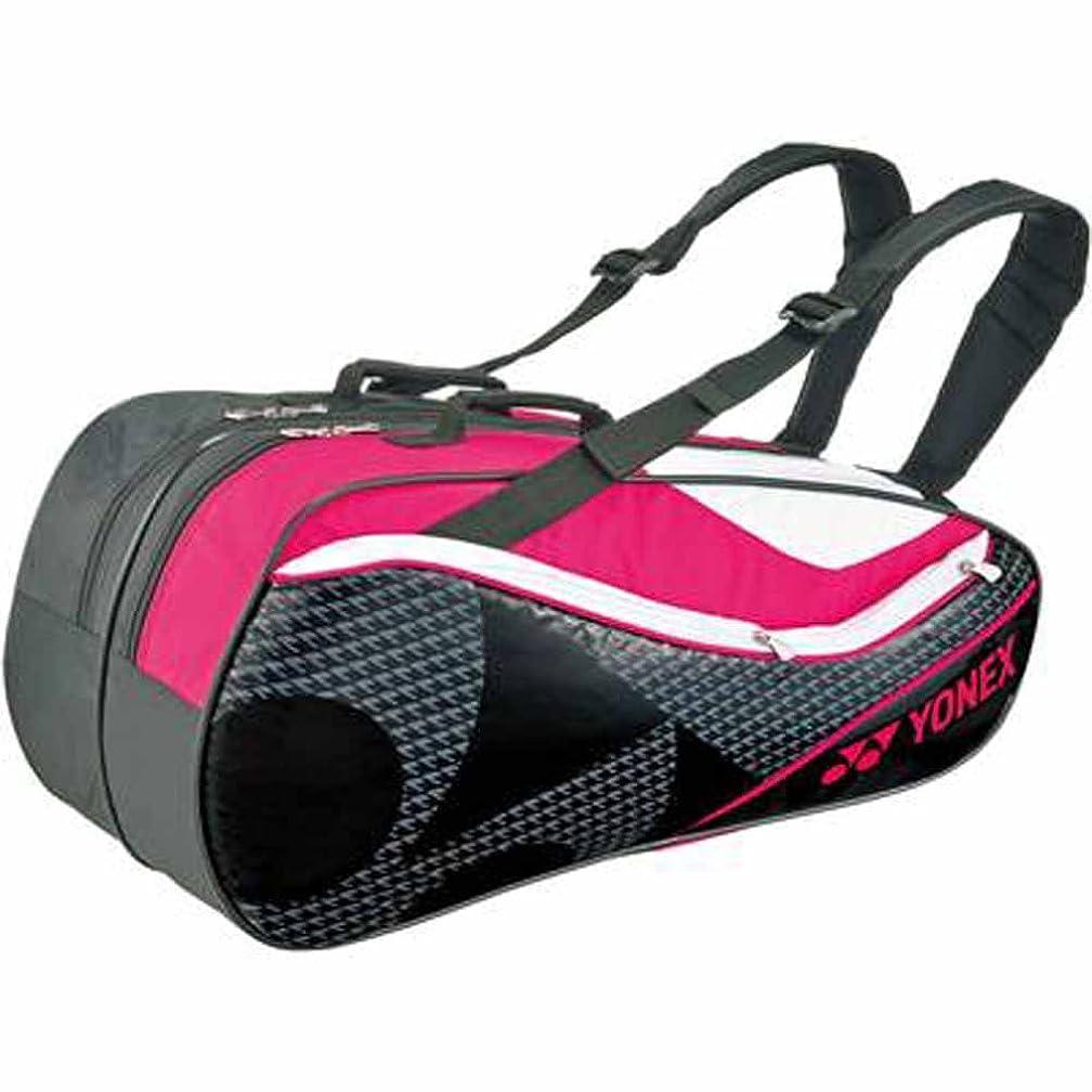 慎重に歌クリークヨネックス(YONEX) テニス ラケットバッグ6 (ラケット6本用) BAG1722R ブラック×ピンク