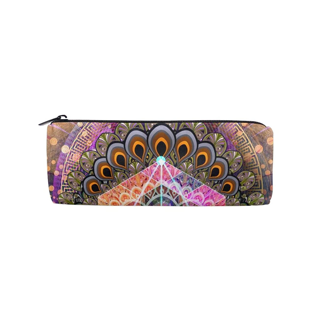ALLDET Colorful Tattoo Trippy Eye Cylinder Women Cosmetic Bag Zipper Single Layer Travel Storage Makeup Bags Purse
