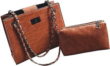2019 New! JJLIKER Vintage Crocodile Chain Crossbody Handbags Totes Fashion Clutch Two Piece Set
