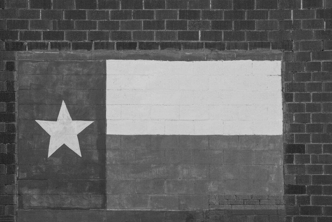 18 Discount mail order x 24 Black White Canvas of Department store Lone The Texas Likeness Wrap