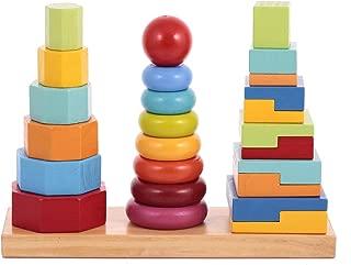 Canoe Wooden Rainbow 3-Column Tower Toy - CT181216RJ70