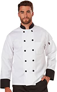 Dickies Mens Paolo Classic Chef Coat Basic Long Sleeve with Pearl Buttons