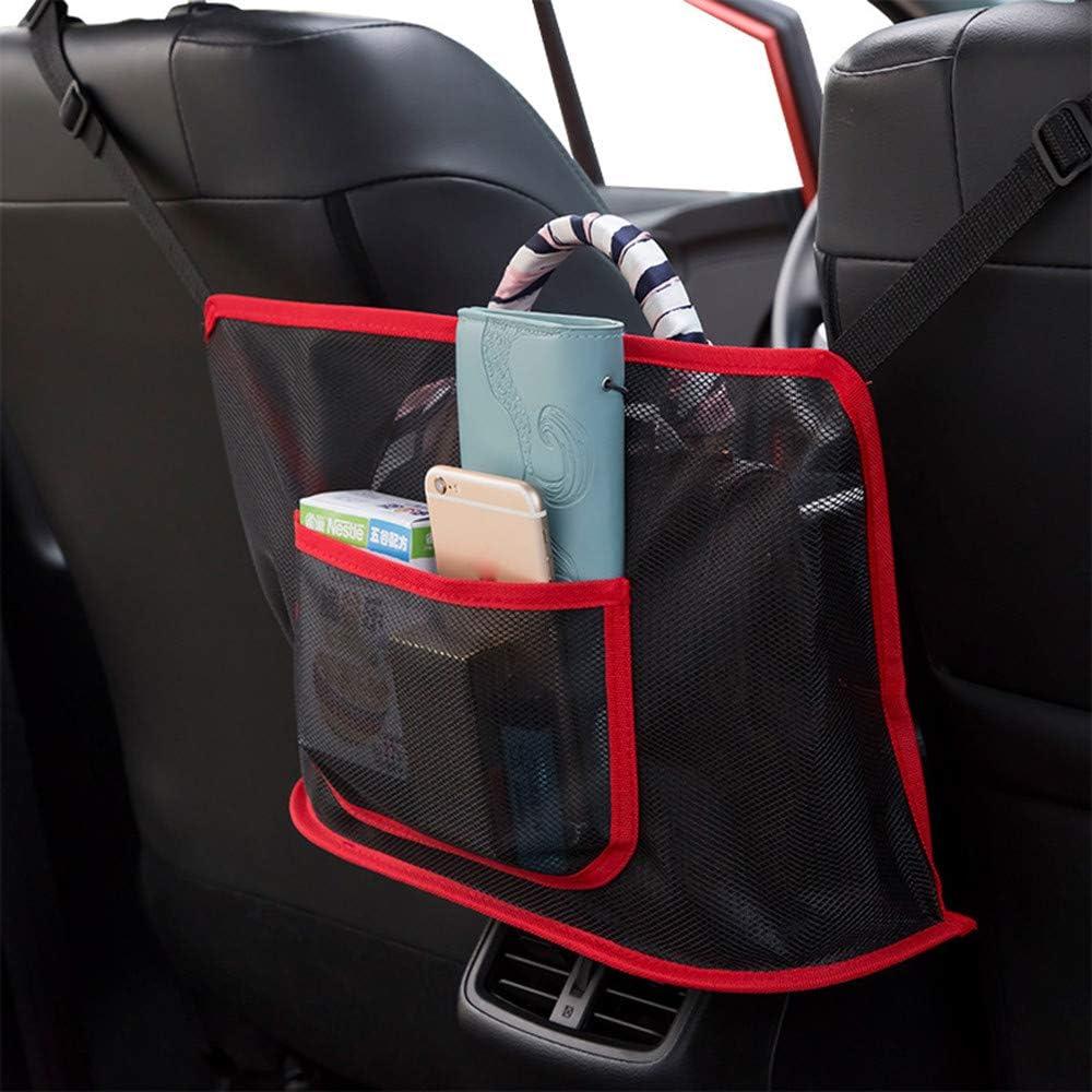 Driver Storage Netting Pouch,Cargo Tissue Purse Holder Pocket Vicetion 2021 New Car Net Pocket Handbag Holder Organizer Seat Back Net Bag,Barrier of Backseat Pet Kids Black