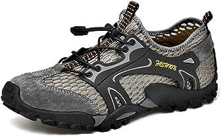 Randonnée pour Hommes Chaussures Légères Respirantes en Plein air Sandales en Maille à Séchage Rapide Pieds Nus Baskets de...