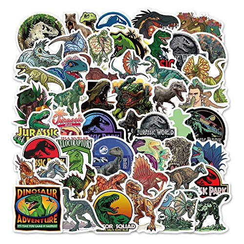 YZFCL Movie Jurassic Park Graffiti Sticker Suitcase Notebook Phone Case Waterproof Sticker 50pcs