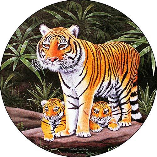 LYMT Tiger Maternal Watch met Cub vervangende bandenafdekking, past zich aan de opening van de achteruitrijcamera gecentreerd (255/70r18)