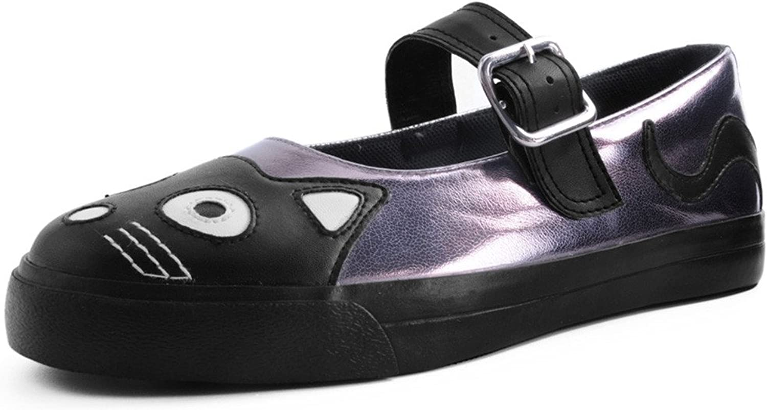 T.U.K... - Womens - Graphite Kitty Face VLK Mary Janes