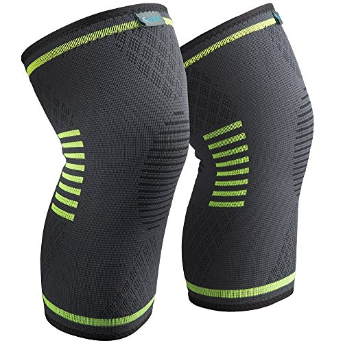 Sable Knee Brace Support Compression Sleeves for Men and Women, 1 Pair FDA Registered Wraps Pads for...
