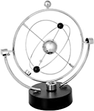 PROW Simulation Milky Way Annularity Model Electronic Perpetual Motion Toy Dynamic Balancing Instrument Best Office Desktop Decoration (Silver)