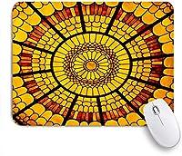EILANNAマウスパッド マンダラ装飾スノーフレーク花民族伝統的なアラビアンオリエンタルグラフィックアートワーク ゲーミング オフィス最適 高級感 おしゃれ 防水 耐久性が良い 滑り止めゴム底 ゲーミングなど適用 用ノートブックコンピュータマウスマット
