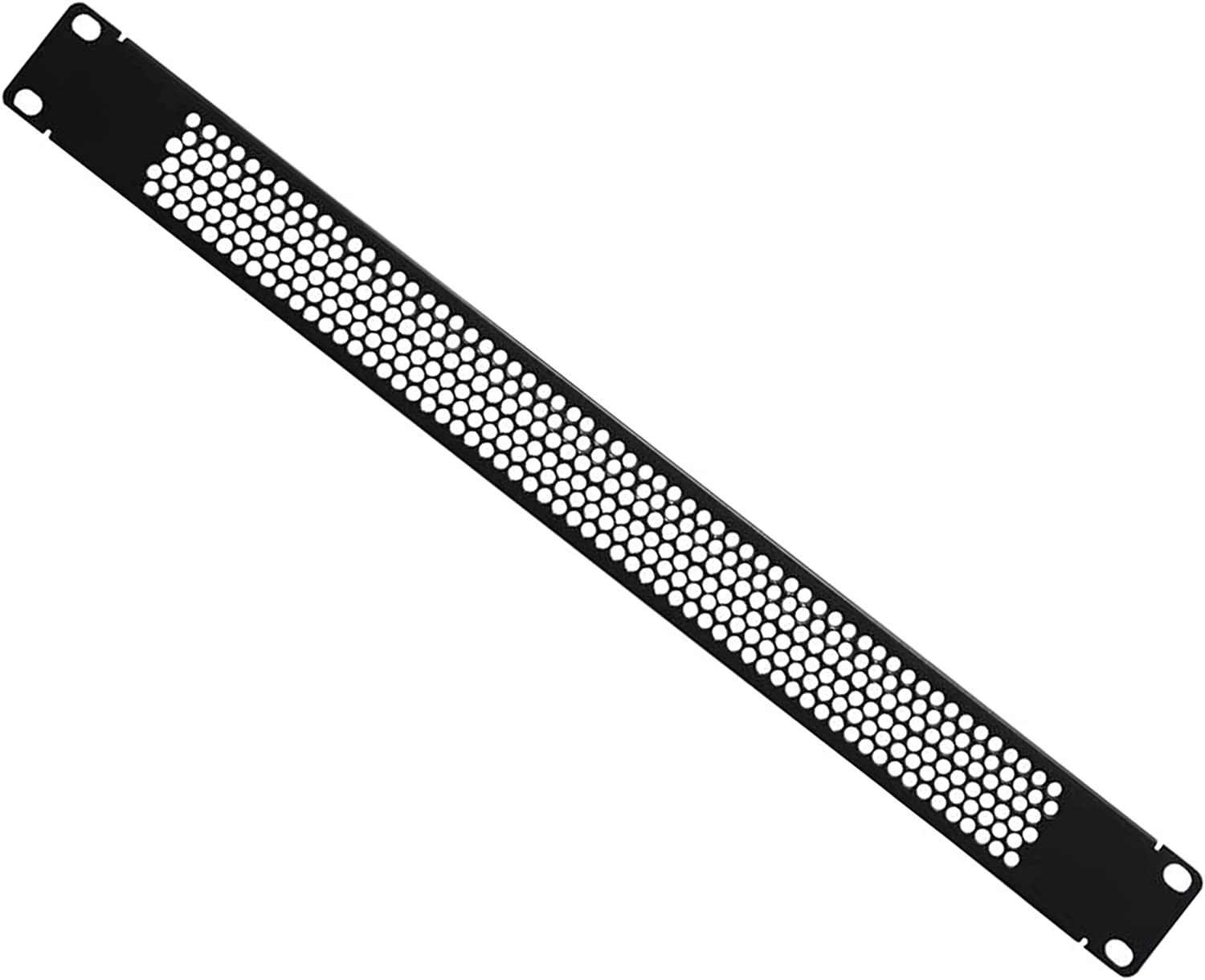 1U Black Blank Rack Mount Panel Spacer with Venting for Cabinet or 19