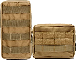 Hoanan 2 Pack Molle Pouch Tactical EDC Pouch Admin Organizer Gadget Gear Pouch for Military Backpack