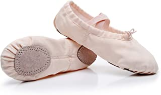 Ballet Dance Shoes Split Leather Sole Professional Ballet Slippers Flats with Gymnastics Ballet Shoes for Girls Women Kid's and Adult's