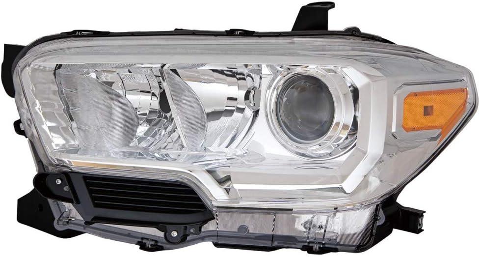 TOYOTA TACOMA 2016 2017 BLACK LEFT DRIVER HEADLIGHT HEAD LIGHT LAMP W//O DRL