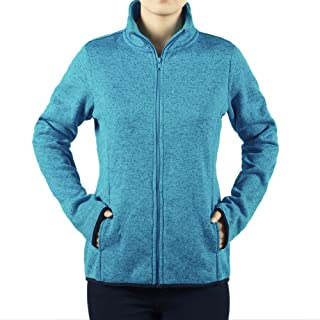 Dolcevida Women's Long Sleeve Running Sweatshirt Full-Zip Fleece Jacket