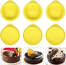 Silicone Cake Molds 4 Inch Round Cake Pans DIY Rainbow Layer Cakes Baking Mold Silicone Baking Pan Set for Cake Pancake Ta...