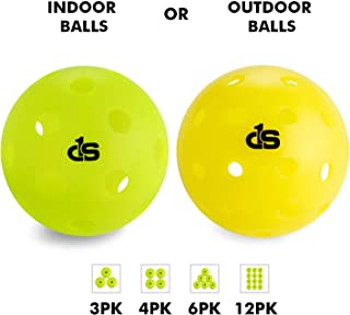 INDOOR or OUTDOOR Pickleball Balls in 3, 4, 6, or 12 Pack by Day 1 Sports - Professional, Durable Pickleballs- Made to USAPA Specifications for Tournament Play