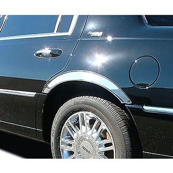 Elite Auto Chrome Stainless Steel Fender Trim 6pc fits 2013-2018 Cadillac ATS 4dr