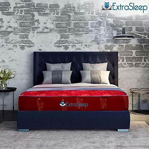 Extra Sleep Coir Mattress 5 Inch Back Support Orthopaedic Care Cotton Breathable Fabric Single Size (75x42x5)