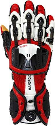 KNOX(ノックス) バイク用プロテクショングローブ 摩擦緩和・衝撃吸収・BOAシステム搭載 HANDROID RED X-LARGE/ハンドロイド レッド XL 【日本正規代理店:ジャペックス】