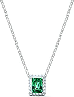 SWAROVSKI Angelic Rectangular Necklace One Size green