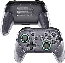 eXtremeRate Bastões octogonais transparentes, alças de placa traseira, capa de reposição para o controle Nintendo Switch P...